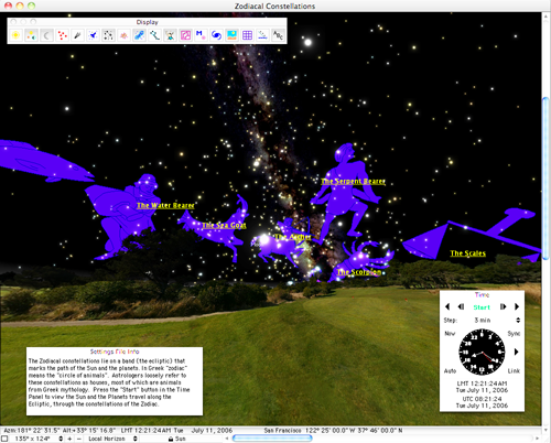 Your own planetarium on OS X